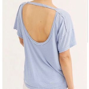 NWT Free People All Mine Open Back Tee